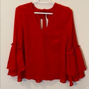 H&M Tops - Red Blouse
